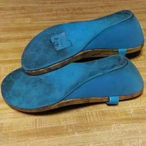 Chaps Shoes - Chaps turquoise wedge sandals size 10